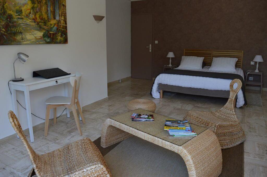 chambre familiale le nid , le confort d'un grand hôtel